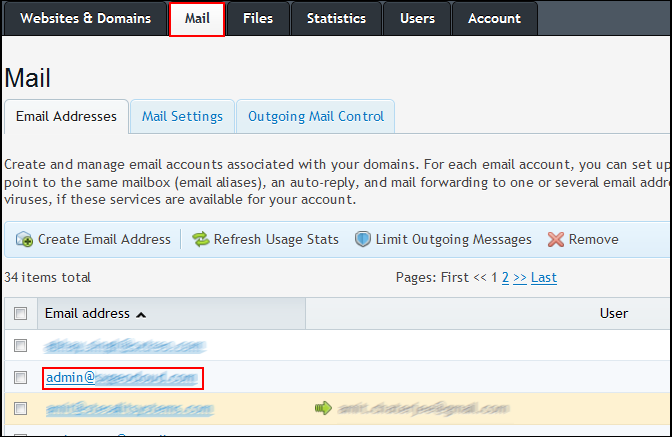 Changing passwords for email users in Plesk 10 (multiple options