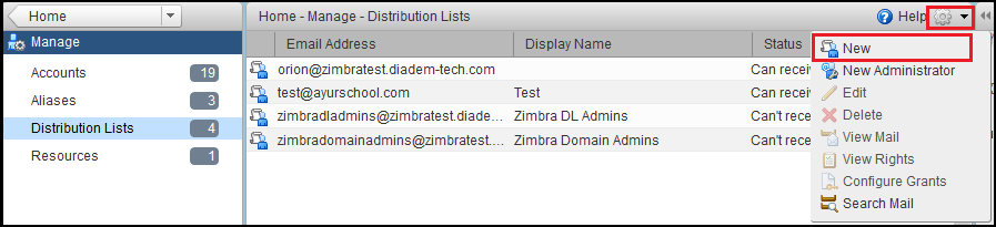 How to create distribution list in Zimbra - Diadem Technologies