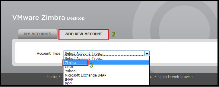 Setting up zimbra desktop accounts with GAL sync (Global Address